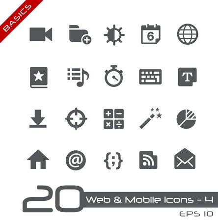 mobilhome: Web et des ic�nes mobiles 4 Illustration