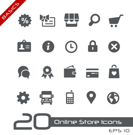 e wallet: Online Store Icons