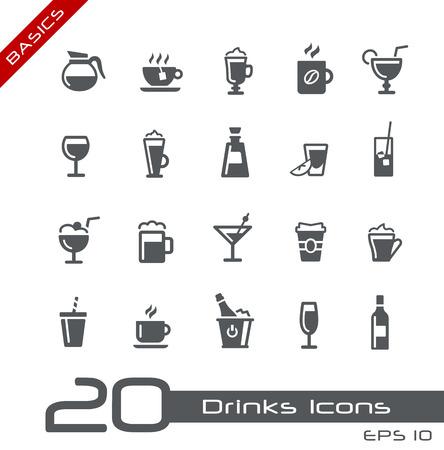 Drinks Icons -- Basics Vector