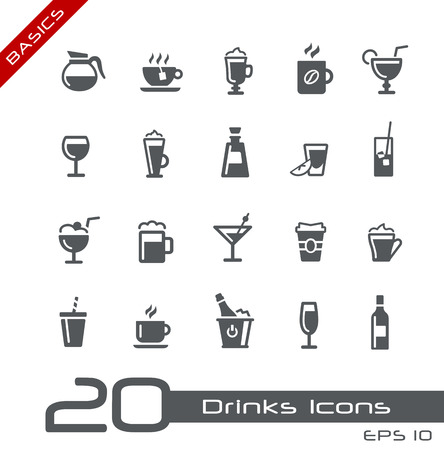 basics: Drinks Icons -- Basics