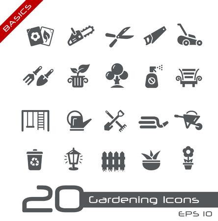hedge trees: Gardening Icons -- Basics