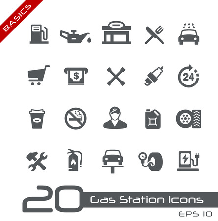 lubrication: Gas Station Icons -- Basics