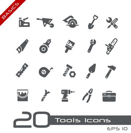 Narzędzia Icons - Podstawy Ilustracje wektorowe