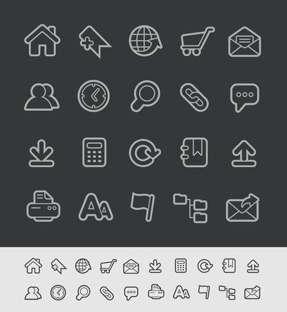 transparencies: Website Icons - Black Line Series -- Contain Transparencies