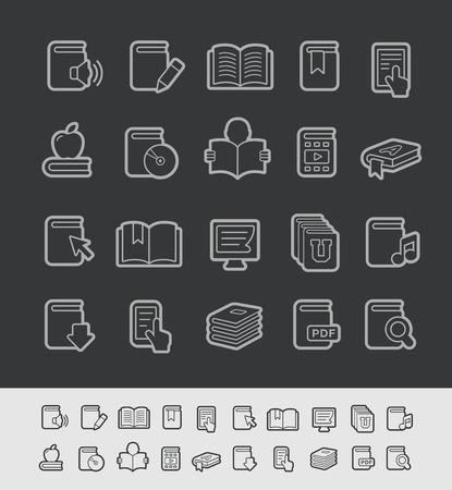 Book Icons -- Black Line Series