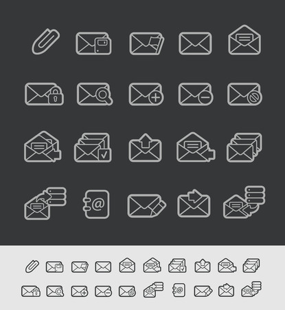 select all: E-mail Icons -- Black Line Series