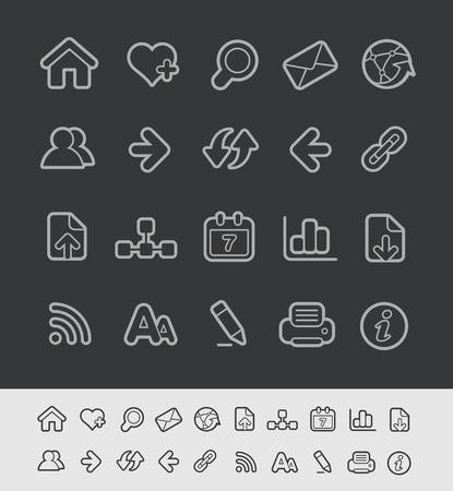 web icons: Web Icons -- Black Line Series
