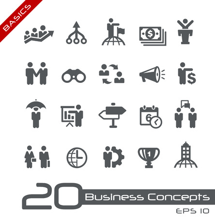 basics: Business Concepts Icon Set -- Basics Illustration