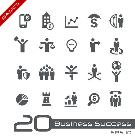 Business Icon Set -- Basics