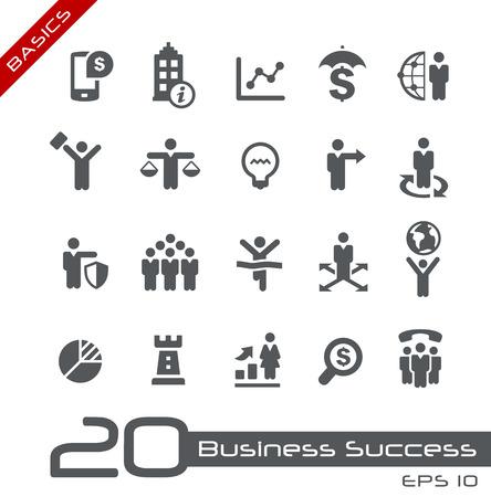 Business Icon Set -- Basics