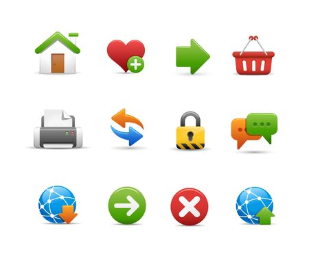 Web Site Icon Set Vektorové ilustrace