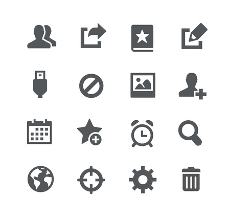 Communication Icons -- Apps Interface