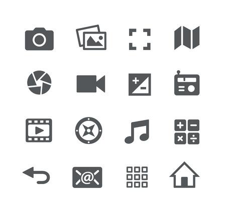 iconos de música: Media Icons - Aplicaciones de Interfaz