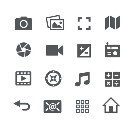 communication icons: Media Icons -- Apps Interface