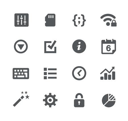 System Settings -- Apps Interface Stock Illustratie