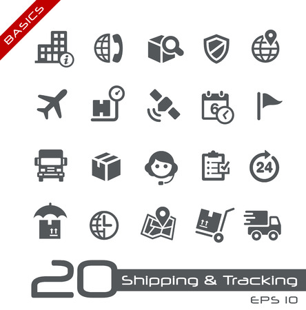 package shipment: Shipping and Tracking Icons -- Basics