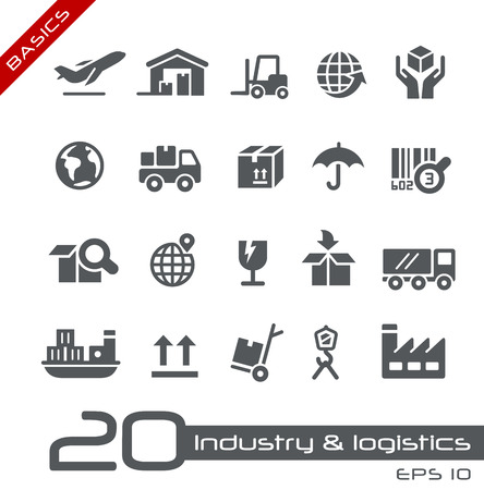 Industrie en Logistiek - Basics Stock Illustratie