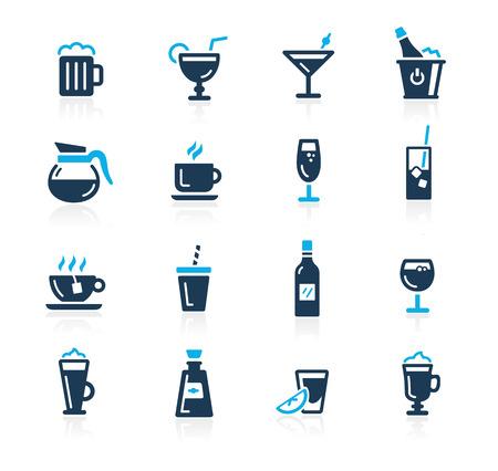 Boissons Icons - Azure Series Banque d'images - 39377937