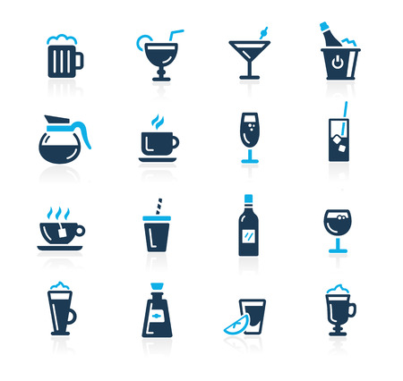 champagne glass: Drinks Icons -- Azure Series