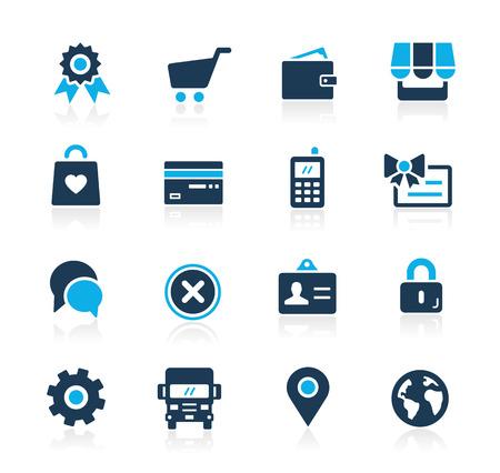 Online Store Icons -- Azure Series 일러스트