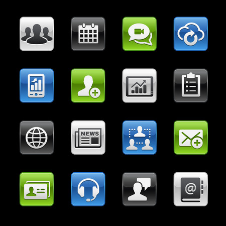Business Technology Icons -- Gelbox Series Banco de Imagens - 39435872