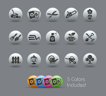 Gardening Icons  Pearly Series