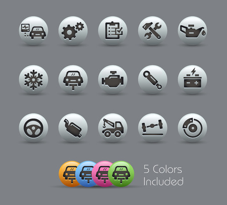 Car Service Icons  Pearly Series