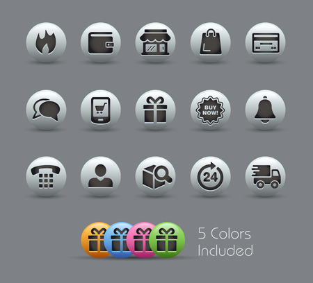 eShop Icons  Pearly Series Vector