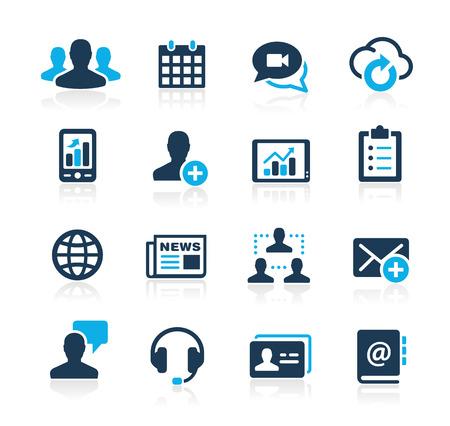 비즈니스 기술 아이콘 푸른 시리즈