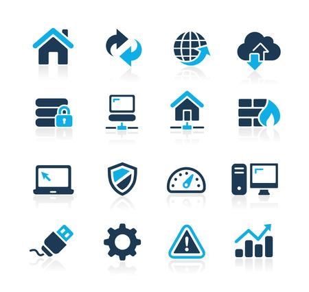 웹 개발자 아이콘 푸른 시리즈 일러스트