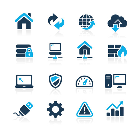 Web Developer Icons  Azure Series Фото со стока - 40203423