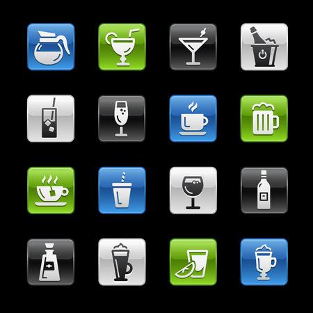 aperitif: Drinks Icons  GelBox Series Illustration