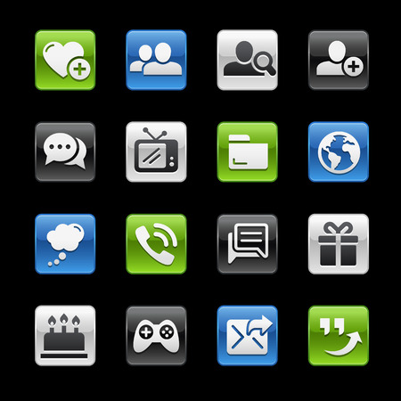 Friendly Communications Icons   GelBox Series Vector