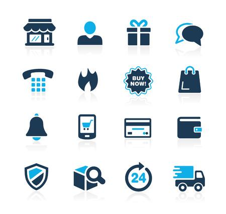 icono computadora: eShopping Iconos Azure Series