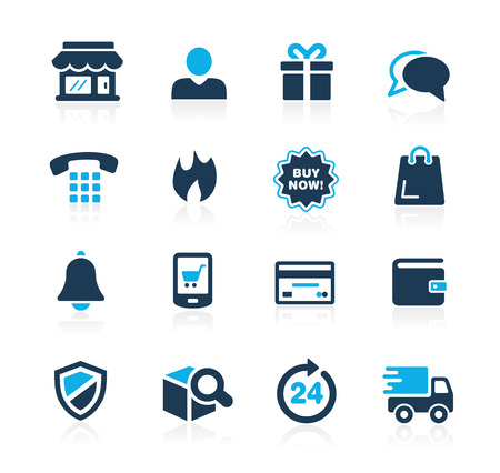 eShopping Icons  Azure Series Vector