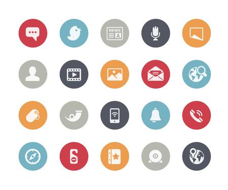 Social Media Icons  Classics Series Vector
