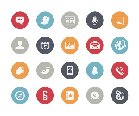 Social Media Icons Classics Series Stock Illustratie