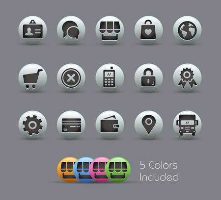 Online Store Icons  Pearly Series Vector