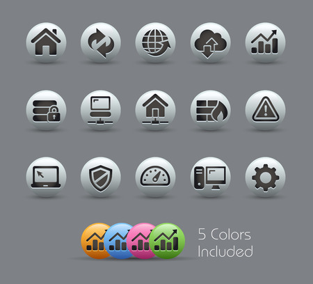 Web Developer Icons  Pearly Series Ilustrace