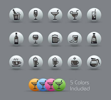 pearly: Drinks Icons  Pearly Series