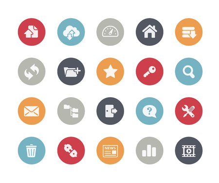 communication tools: FTP and Hosting Icons Classics Series Illustration