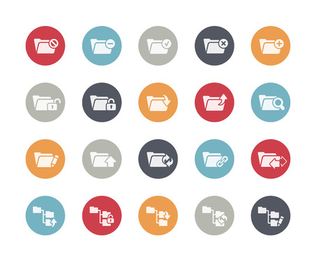 Folder Icons Set 1 of 2 Classics Series Vector