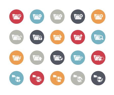 Folder Icons Set 1 of 2 Classics Series Vector