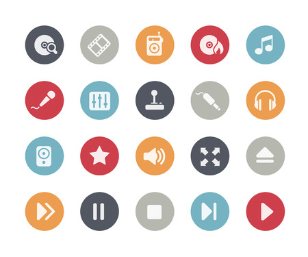 Media Player Icons Classics Series