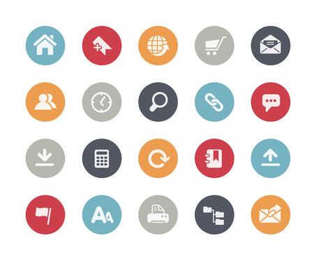 Sitio web Iconos Classics Series Ilustración de vector