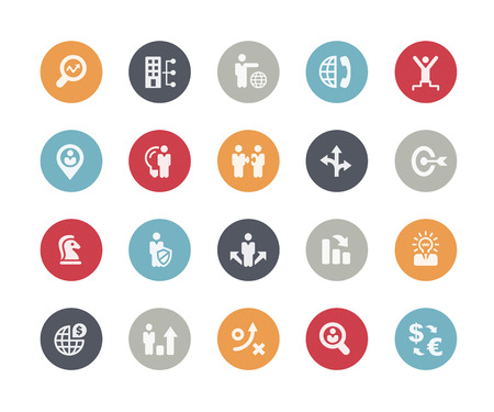 Icons Set of Business Strategy and Management  Classics Series Illustration