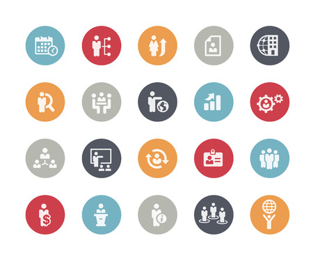 Icons Set of Human Resources and Business Management  Classics Series