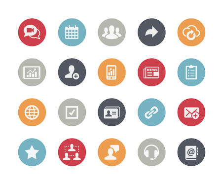 Business Network Icons  Classics Series Vector