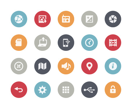 Web and Mobile Icons 5  Classics Series Vectores