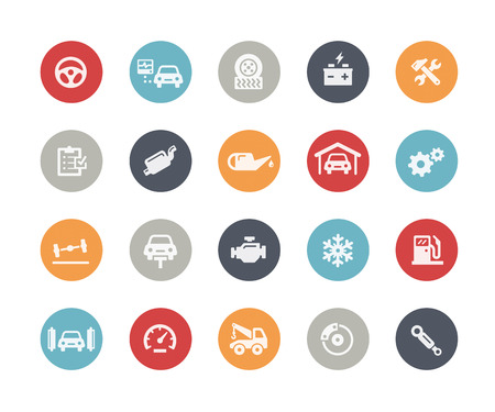 Car Service Icons  Classics Series